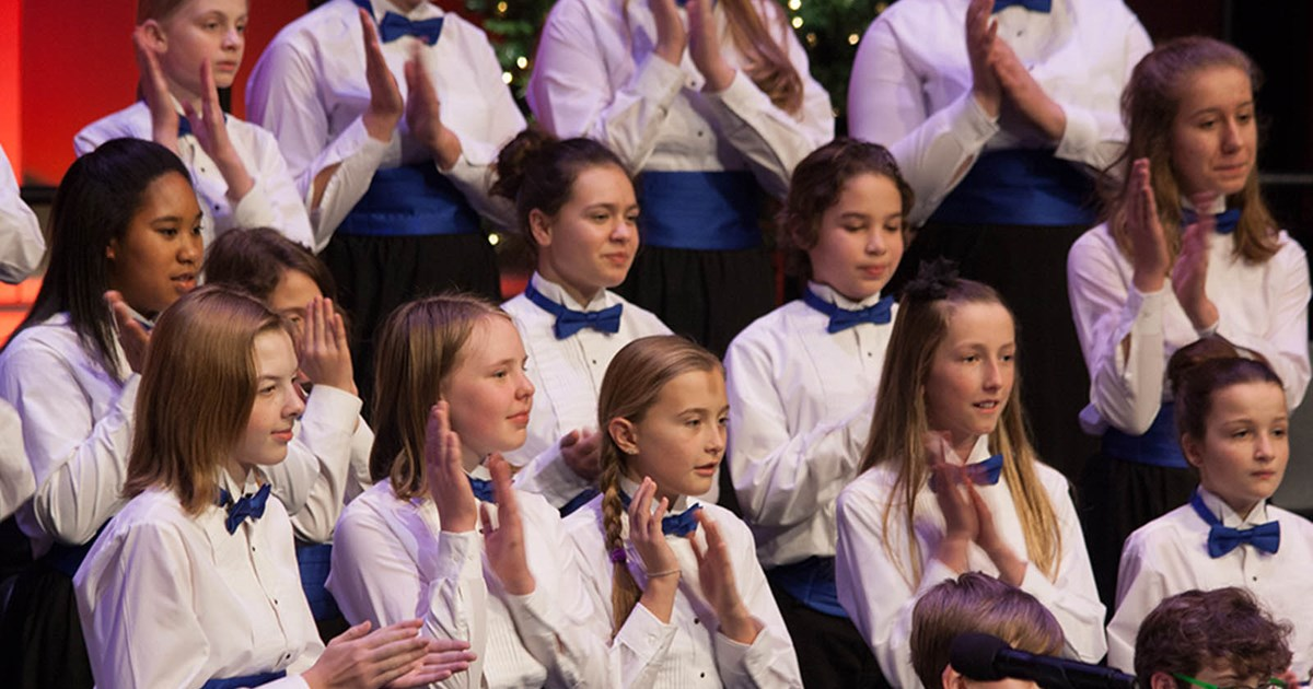 Youth Choir Members on Stage